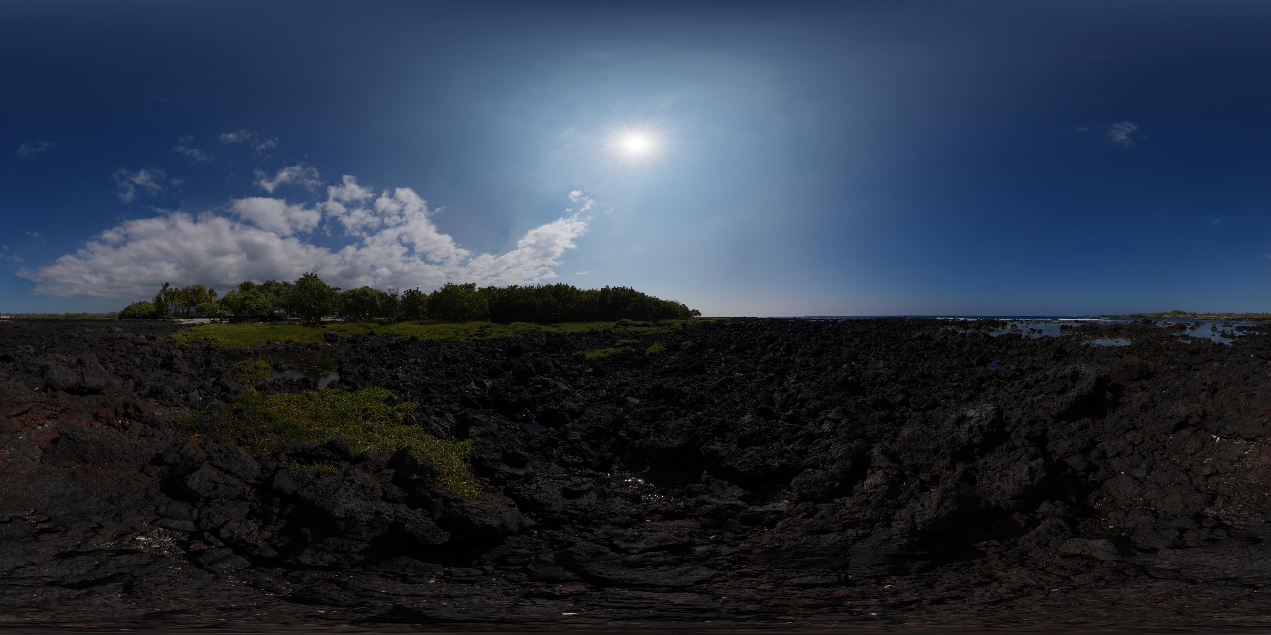 HDRI – Blazing Sun – Lava Beach